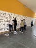 Castano - I ragazzi durante la realizzazione dei murales