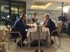 Televisione - Edoardo Raspelli con il conduttore Giuseppe Rinaldi