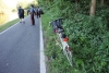 Bernate Ticino - I soccorritori sull'alzaia del Naviglio