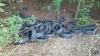Nosate - Gli pneumatici abbandonati accanto al canale Villoresi
