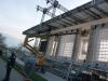 Monza - Preparativi di montaggio del palco di Papa Francesco