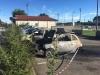 Castelletto - Auto in fiamme la notte del 12 agosto 2017