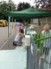 Cuggiono - L'amministrazione ridipinge la recinzione della materna (foto di Maria Teresa Perletti)
